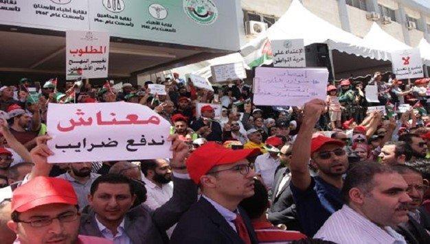 واکنش دولت اردن به اعتراضات مردمی اخیر