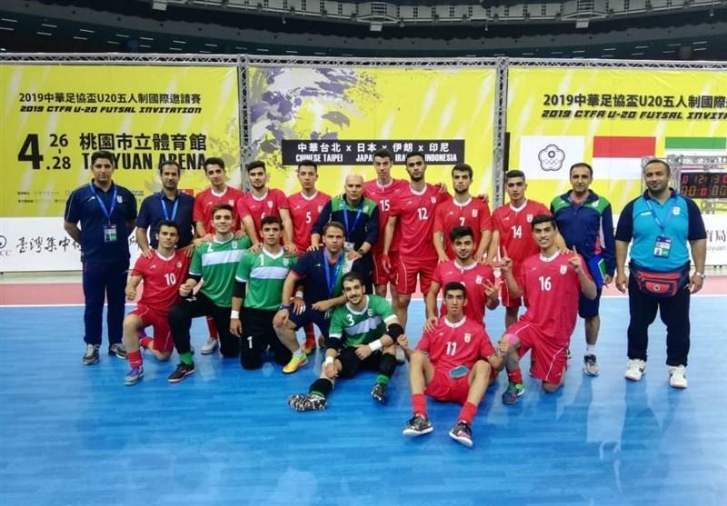 تورنمنت چهارجانبه چین تایپه، شکست تیم فوتسال زیر 20 سال ایران در دیدار سوم
