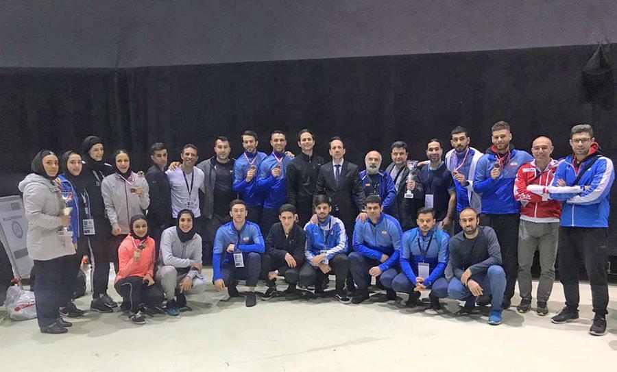 تیم ایران نایب قهرمان لیگ جهانی کاراته وان اتریش شد
