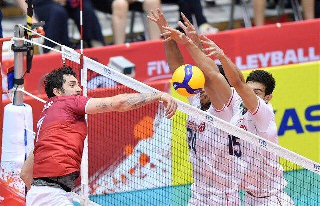 آمار بازی تیم ملی والیبال ایران مقابل کانادا