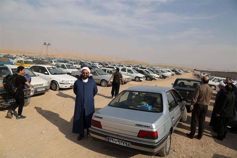 کرایه پارک خودرو در مرز مهران 500 هزار ریال است