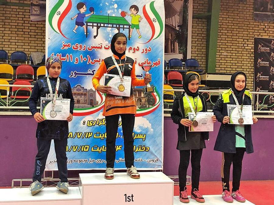 ایلوخانی قهرمان تنیس روی میز هوپس دختران کشور شد