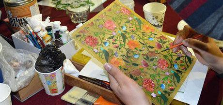 نمایشگاهی از احیای کاشی های قدیمی از صفویه تا قاجار
