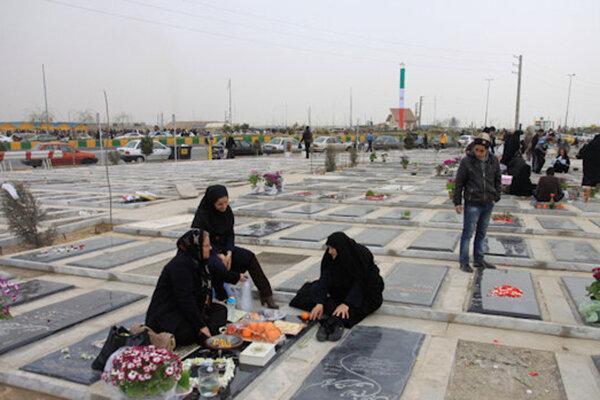 ورودی های آرامستان باغ رضوان، 29 اسفند و اول فروردین مسدود است