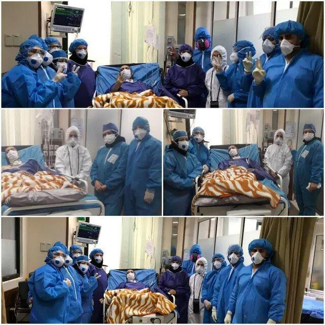 ترخیص بیمار کرونایی پس از 105 روز بستری در بیمارستان اردبیل