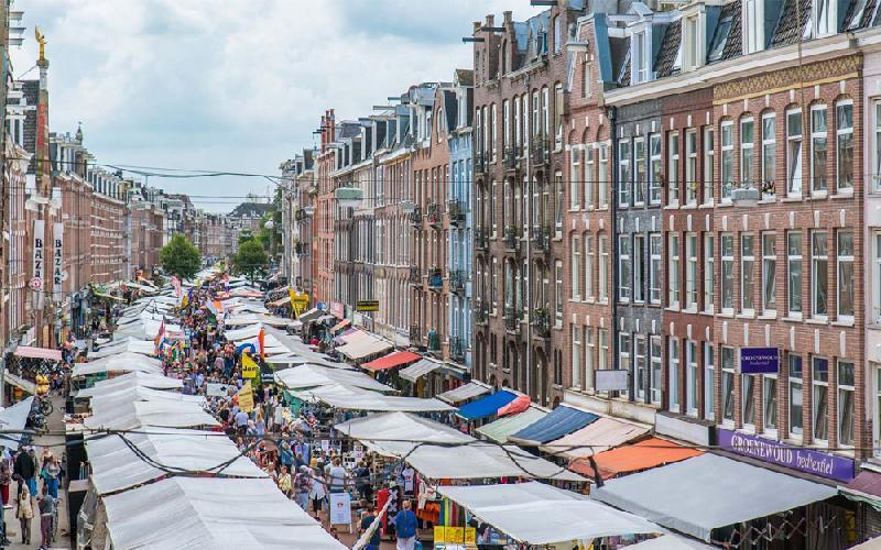 بازار آلبرت؛از محبوب ترین جاذبه های توریستی آمستردام، عکس