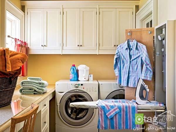 طراحی اتاق لباسشویی با چیدمان شیک و مدرن ، عکس 2015