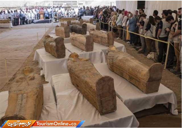 شروع اکتشاف عظیم تاریخی در مصر ، کشف 60 تابوت باستانی، تصاویر