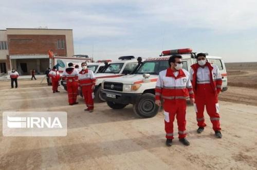خبرنگاران اعزام تیمهای هلال احمر خراسان رضوی به منطقه زلزله زده مه ولات