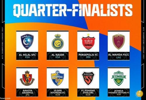 تیم های حاضر در مرحله یک چهارم نهایی لیگ قهرمانان آسیا تعیین شدند